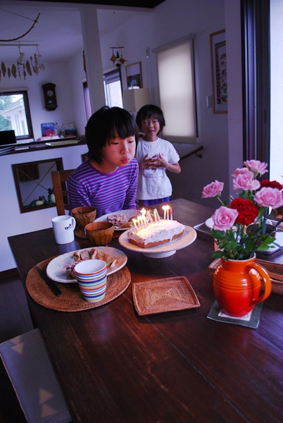 11年目の朝、お祝い
