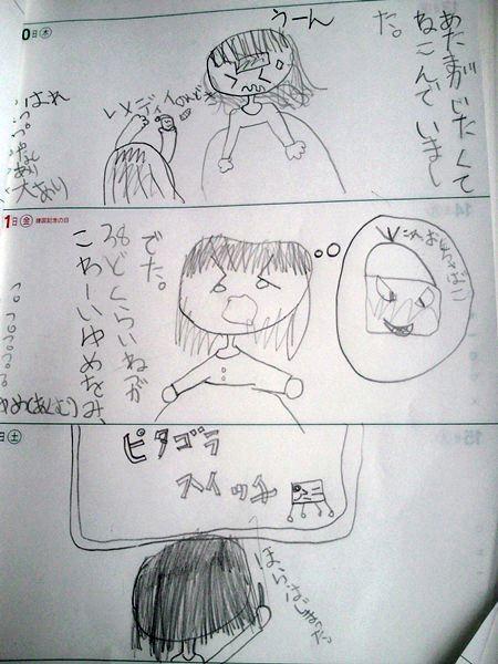 小学生の生活日記、より